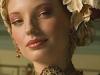 in petit point opgewerkte haarband met roos