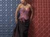 Handingeverfd corsetje op taftzijden rok